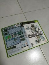 XBOX GAME METAL GEAR SOLID 2 SUBSTANCE (ORIGINAL USED)