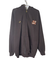 LRG Roots And Equipment Men's 3XL Full Zip Jacket, Brown And White Orange 4xl?