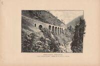 Seckenviadukt Gotthardbahn DRUCK von 1895 Schweiz