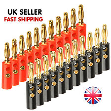 20pcs 4mm Professional High Quality Plated Speaker Cable Banana Plugs Connector