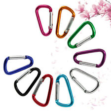 1 pc D-ring Key Chain Aluminum Alloy Carabiner Locking Clip Hook for Campi