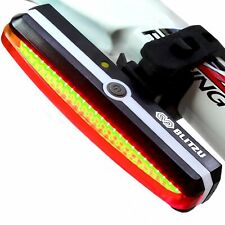 Ultra Bright Bike Light Blitzu Cyborg 168T USB Rechargeable Bicycle Tail Ligh...