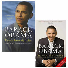 Barack Obama Dreams From My Father, Audacity of Hope 2 Books Collection Set New