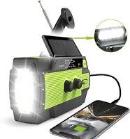 Emergency Crank Radio,4000mAh-Solar Hand Crank Portable AM/FM/NOAA Weather Radio