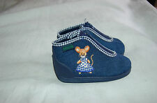 NWOB Baby botte Blue Canvas Zipper Closure Shoes Size 21 Made in France