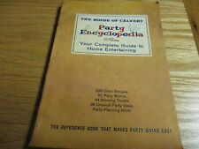 Vintage The House of Calvert Party Encyclopedia 1960