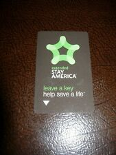 Stay America Extended  Room Key Card Collectible Black