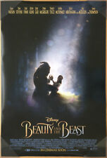 BEAUTY AND THE BEAST MOVIE POSTER DS ORIGINAL INTL FINAL VF 27x40 EMMA WATSON
