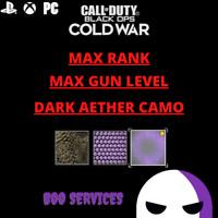 COD COLD WAR - MAX GUN LEVEL - DARK AETHER CAMO - MODDED LOBBY - LEVEL 1,000