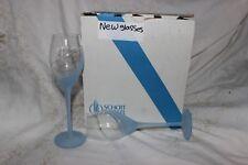 1 Schott Wiesel blue frosted wine Glass