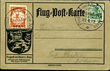 DR 1912 VI auf KARTE RHEIN MAIN FLUG EELP 20Pfg 2200€(S7952