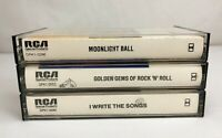 Lot of 3 RARE Compilation RCA Special Products Cassette Tapes ~ Jazz Rock N Roll