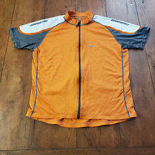 "Louis Garneau Mens XL Cycling Jersey 21.5"" Pit to Pit XLarge Orange"