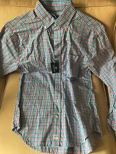 Vineyard Vines Classic Fit Murray Shirt - Pink Squid Gingham Check - Sz Small