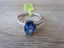 Himalayan Kyanite White Topaz Accent Ring Platinum/Sterling Silver Sz 7,8,9 Opt