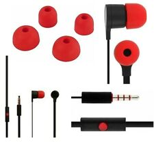 Cellvare Stereo Headset 3.5mm for HTC  w Mic & volume -Black/Red
