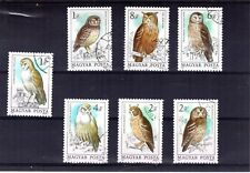1707++HONGRIE   SERIE TIMBRES  RAPACES  N°2