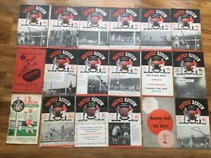 """Collection  30 Substandard Football Programme's mainly Manchester United  1950""""s"""