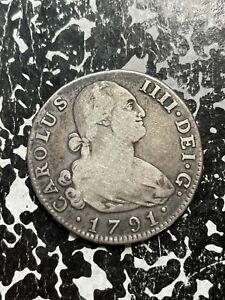 1791-MF Spain 4 Reales Lot#BG448 Silver!