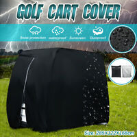 4 Passenger Golf Cart Cover Waterproof Protector 210D For EZ Go Club Yamaha  !