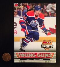 12-13 Nail Yakupov ROOKIE UD Young Guns 5 X 7 Fan Expo Card Edmonton Oilers