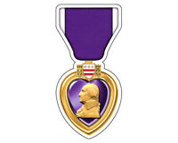 Purple Heart Medal Army Navy Air Force Marine National Guard Decal Sticker