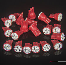 20x T10 8-SMD Red LED Car Light Wedge Bulb Ultra Super Bright 194 2825 921 168