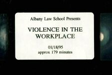 VIOLENCE IN THE WORKPLACE documentary 1995 Albany Law School dispute resolution