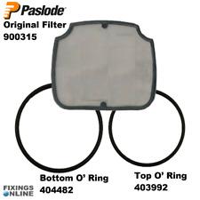 Original Paslode Filter & Replacement IM350 O'Ring Top 403992 + Bottom 404482