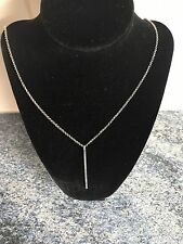 Silver Plated Lovely Chic Fashion Hanging Bar Chain Pendant