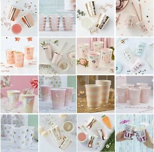 CUPS Rose Gold + Gold Foiled + Silver Foiled Party Birthday Wedding Baby Shower
