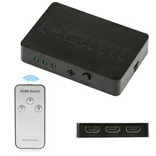 3 Ports HDMI1080P Switch HUB Splitter With Wireless Remote Control For DVD HDTV