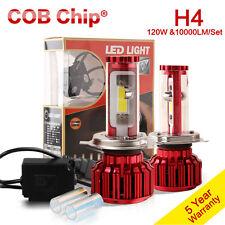 120W 10000LM H4 LED Light Headlight Kit Hi/Lo Beam Bulbs Kit 6000k White 9003 US