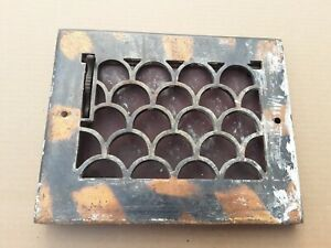 Antique Wall Heat Register. Heavy Cast Iron Vintage Wall Grate / Grill / Vent