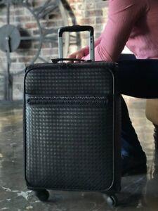 New Suitcase From Bottega Veneta. Leather. Italy. Black