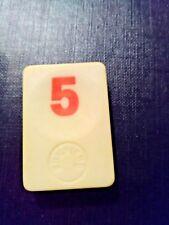 PION RUMMIKUB N° 5 ROUGE D'ORIGINE 4cm X 3cm