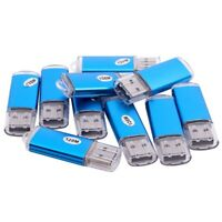 1X(10x USB Stick 2.0 Speicherstick Flash Drive 128MB Geschenk Blau R9D7) 9P1