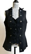 Tripp NYC Vest Military Victorian Steampunk Goth Black Plus Size Torrid 0 XL