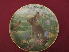 Rabbit collector plate Kaiser - Hamilton Colln. Wildlife Woodland Creatures