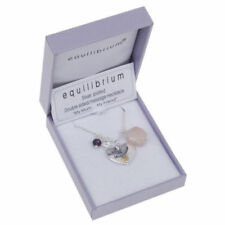 equilibrium silver plated teardrop necklace Live The Life You Imagined Quote
