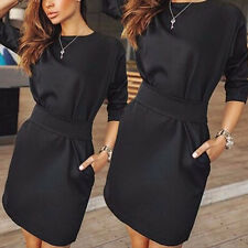 New Women Sexy Clubwear Bandage Bodycon Party Evening Cocktail Dress Long Sleeve