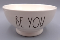 Rae Dunn BE YOU Soup Cereal Bowl White Ivory Artisan Collection by Magenta