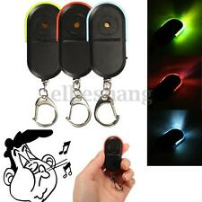 Wireless Voice Control LED Anti-Lost Key Finder Whistle Keychain Remote Locator
