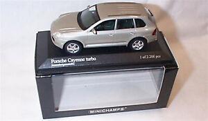 Porsche Cayenne Turbo 2002 Beige Metallic New in Box ltd edition 1-43