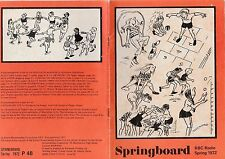 BBC RADIO 4 SPRINGBOARD LEARNING BOOKLET SPRING 1972