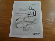 """1964 Ronson Home Appliances Vintage Magazine Ad """"Three wizards from Ronson"""""""