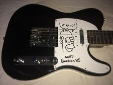 MATT GROENING SIGNED GUITAR HOMER SIMPSON The Simpsons Futurama PROOF