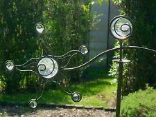 Windspiel Wippe Sonne m. 8 Glas Kugeln Gartenstecker Garten Figur Metall Deko