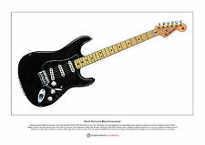 David Gilmour's Black Stratocaster Limited Edition Fine Art Print A3 size