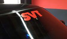"SVT Windshield Banner Vinyl Decal Sticker 18"" Any Color"